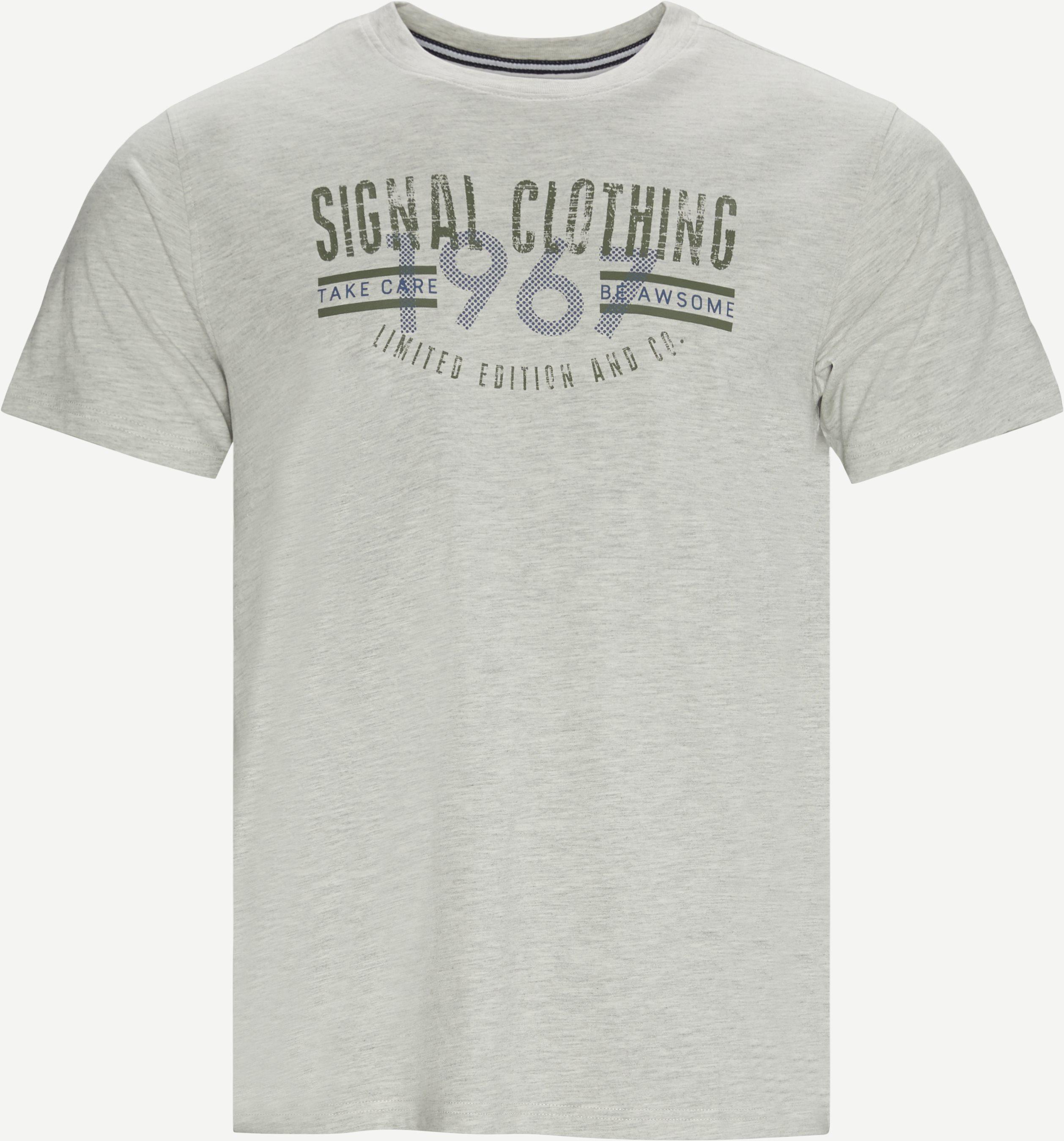 T-shirts - Regular - Grey